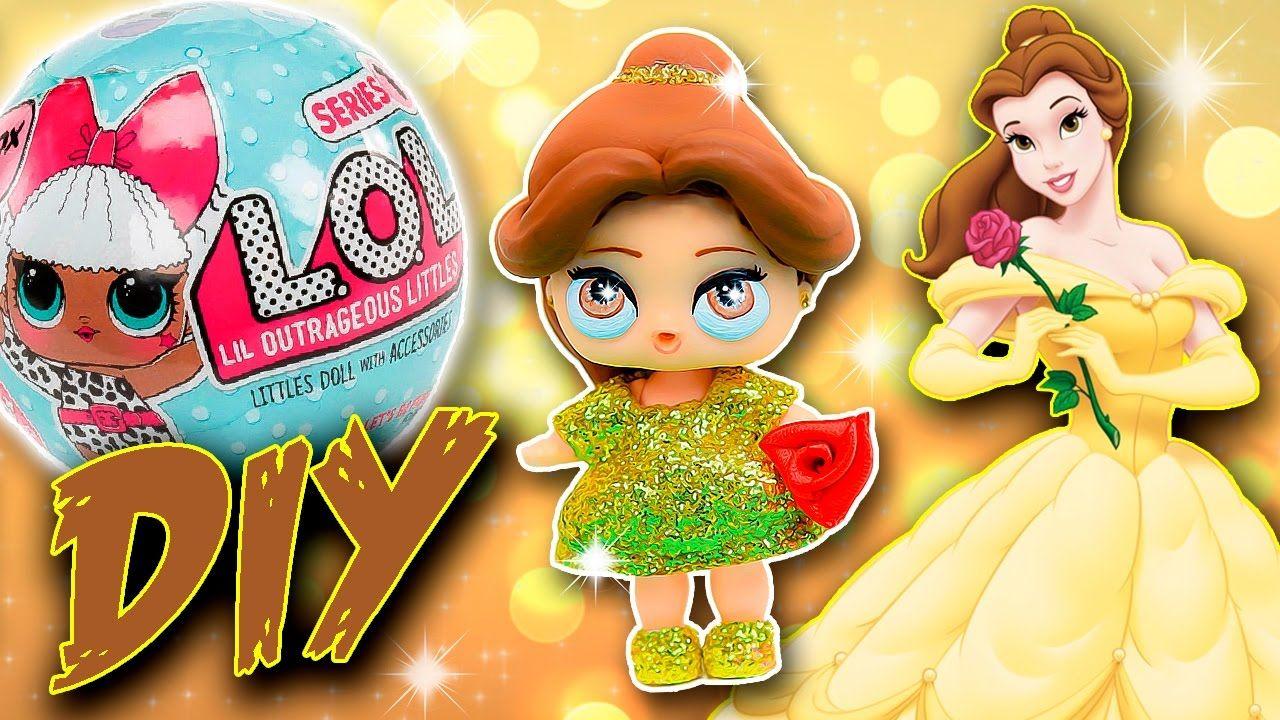 BELLE Beauty & Beast LOL Surprise Custom Doll DIY Disney