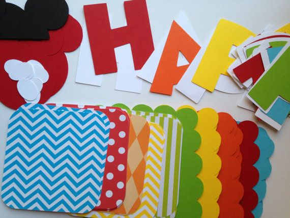 DIY Mickey Mouse Clubhouse Birthday Banner by sweetheartpartyshop