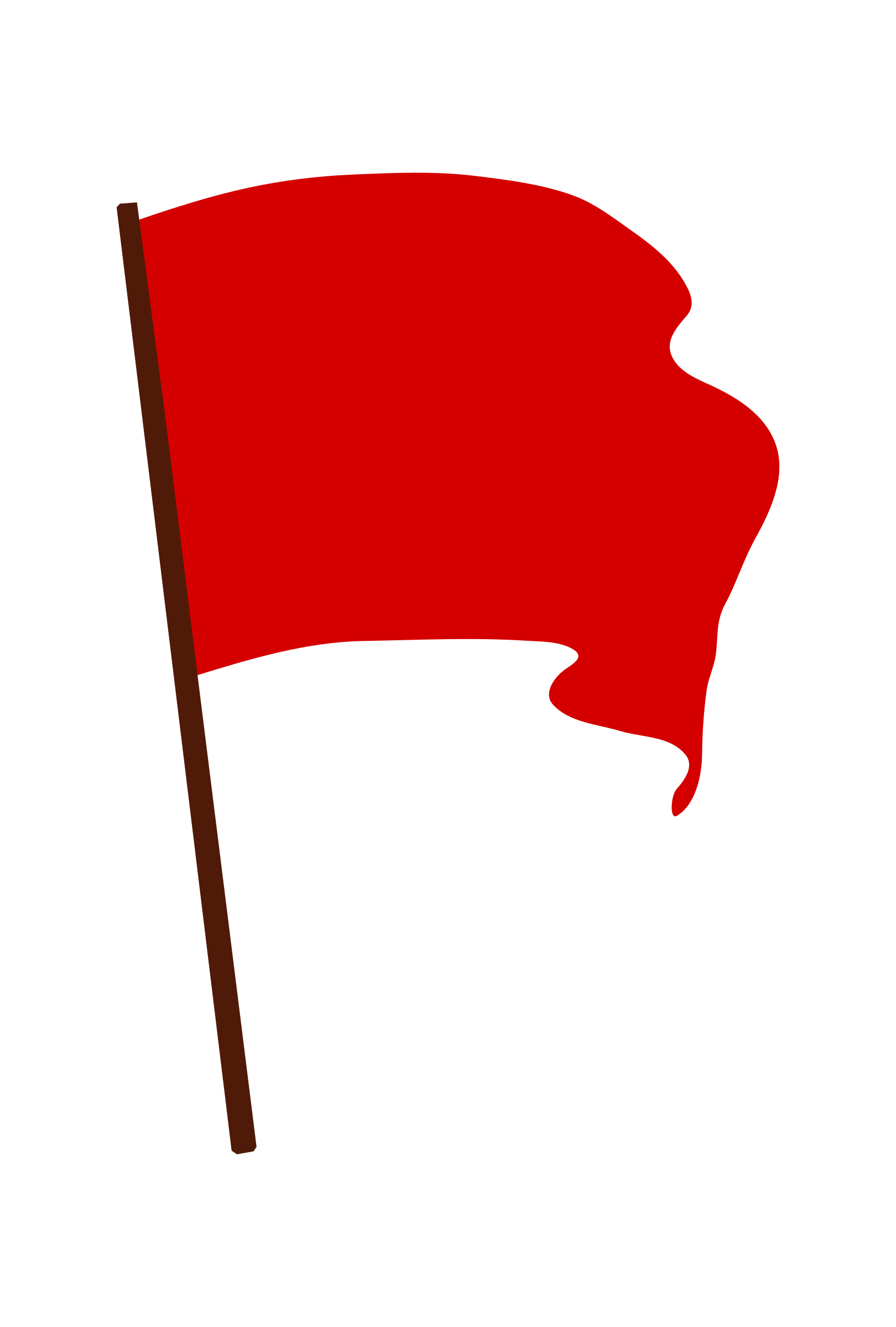 Waving Red Flag By Worker A Red Flag On Openclipart Red Flag Flag Red