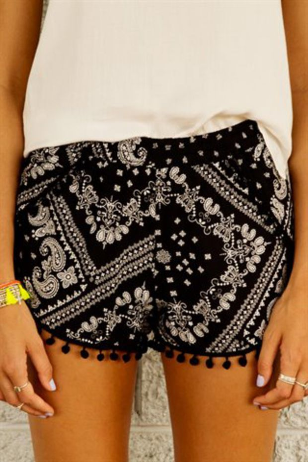 Bandana Pom Pom Shorts Dissh Fashion Clothes Summer