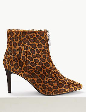 dc9d7419469 Extra Wide Fit Animal Print Stiletto Ankle Boots | boots,boots,boots ...