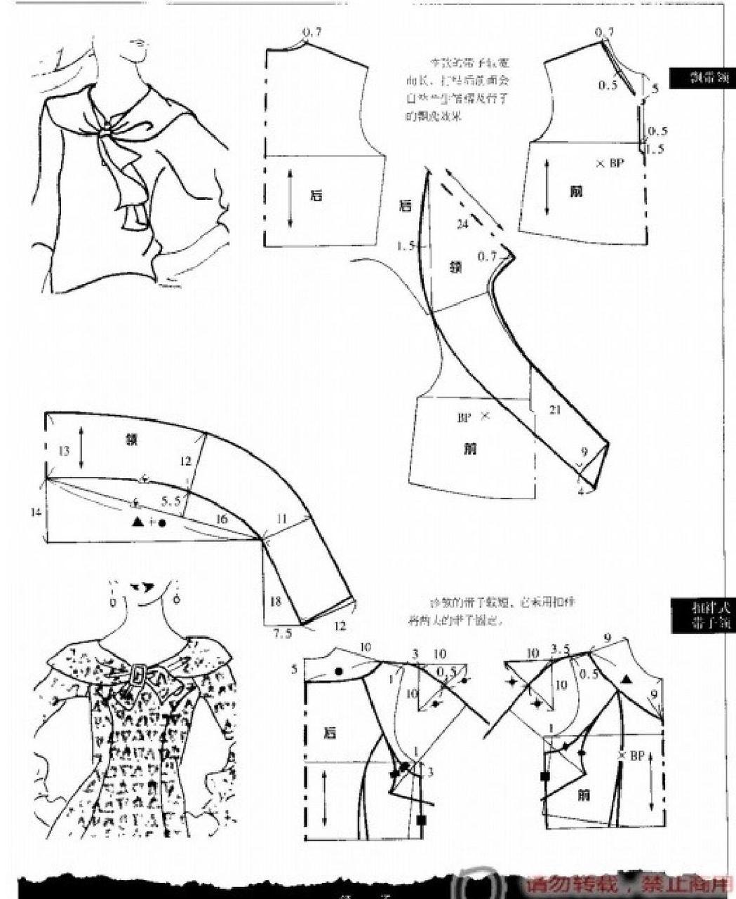fabric0027 | Patrones, Blusas y Patronaje