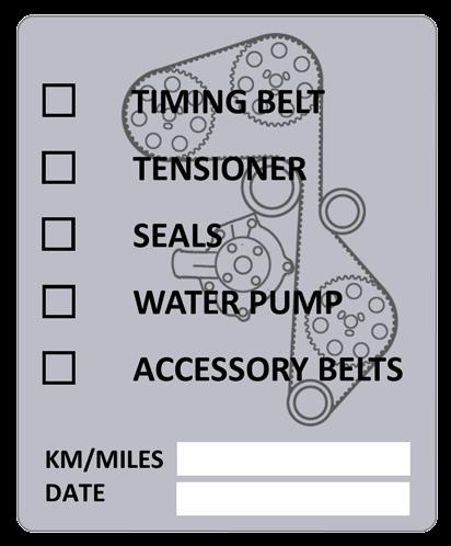 Volvo Redblock Timing Belt Label Dave S Volvo Page Volvo Body Stickers Timing Belt