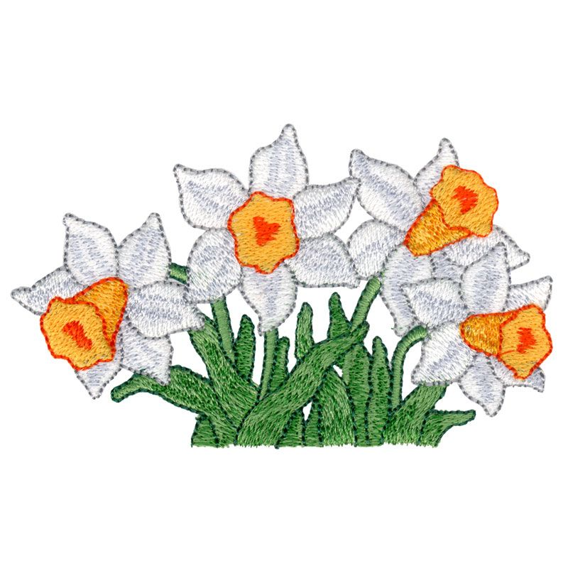 """This free embroidery design from Embroidery Online is called """"White ..."""
