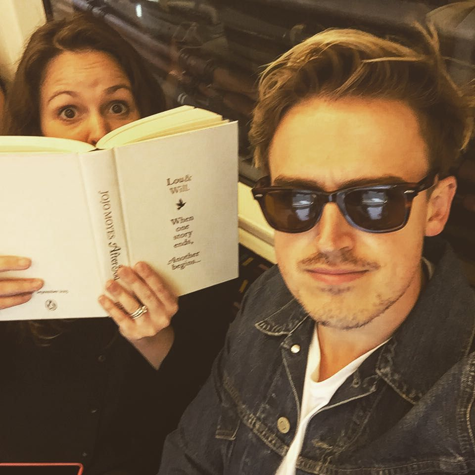 "TomFletcher on Instagram: ""I'm wearing double denim and suddenly the wife wants to read instead of talk to me on the tube."""