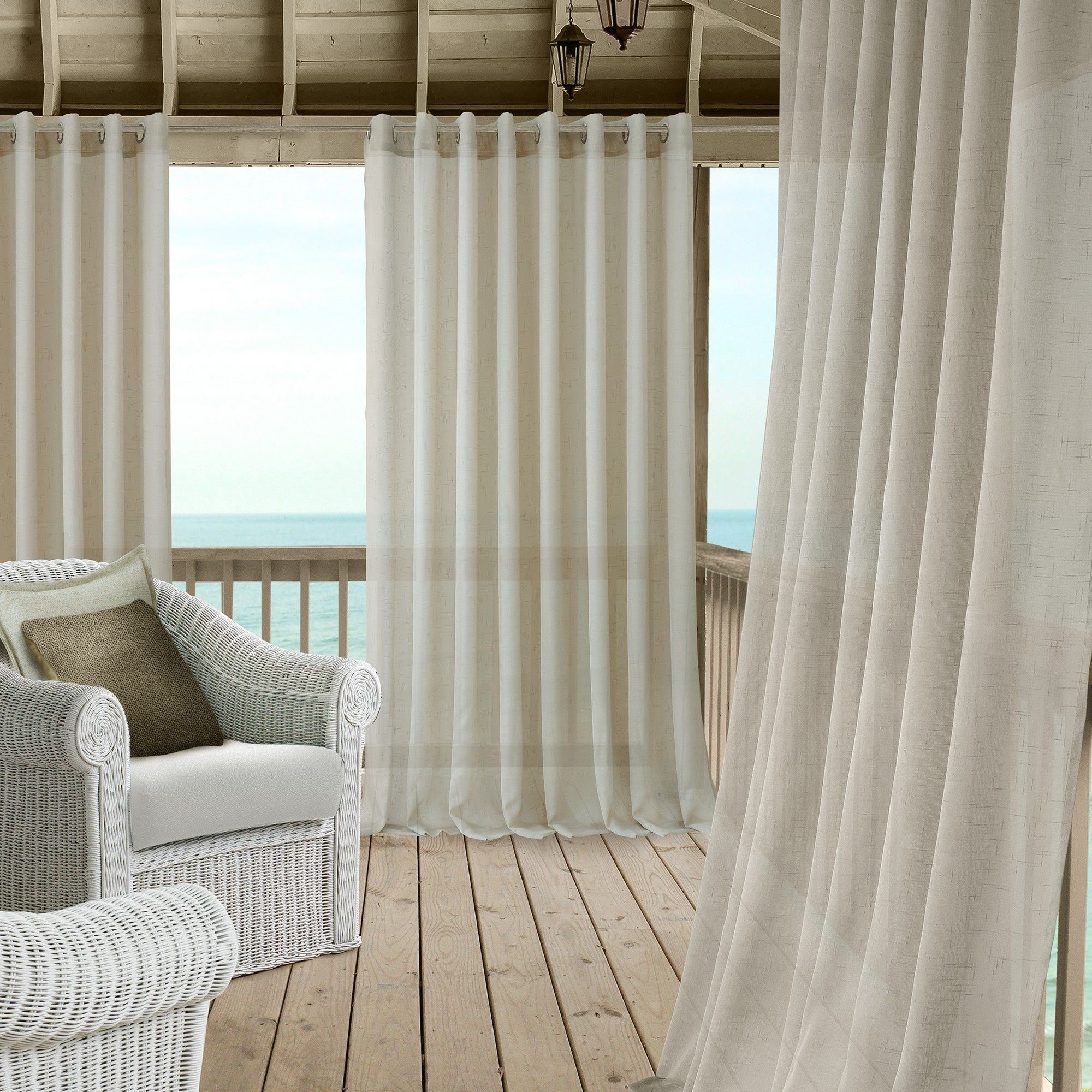 Carmen Sheer Extra Wide Indoor Outdoor Sheer Window Curtain Panel