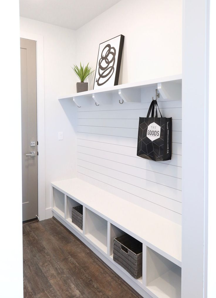 Contemporary Mudroom Using Ikea Kallax Shelf Ikea Mud Room Mudroom Decor Ikea Kallax Shelf