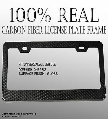 Sponsored Ebay Jdm 1 Pc Black Carbon Fiber License Plate Frame