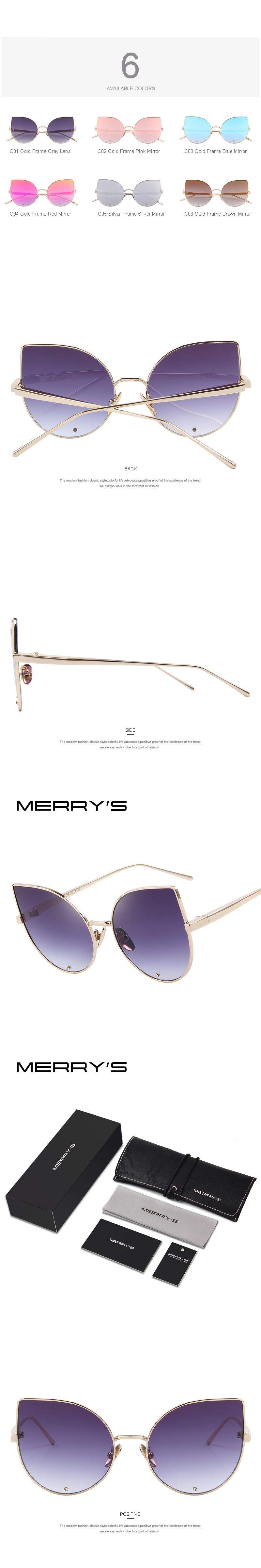 019deb0b270f MERRYS Women Cat Eye Sunglasses Classic Brand Designer Sunglasses Luxury Diamond  Encrusted Lens S8026