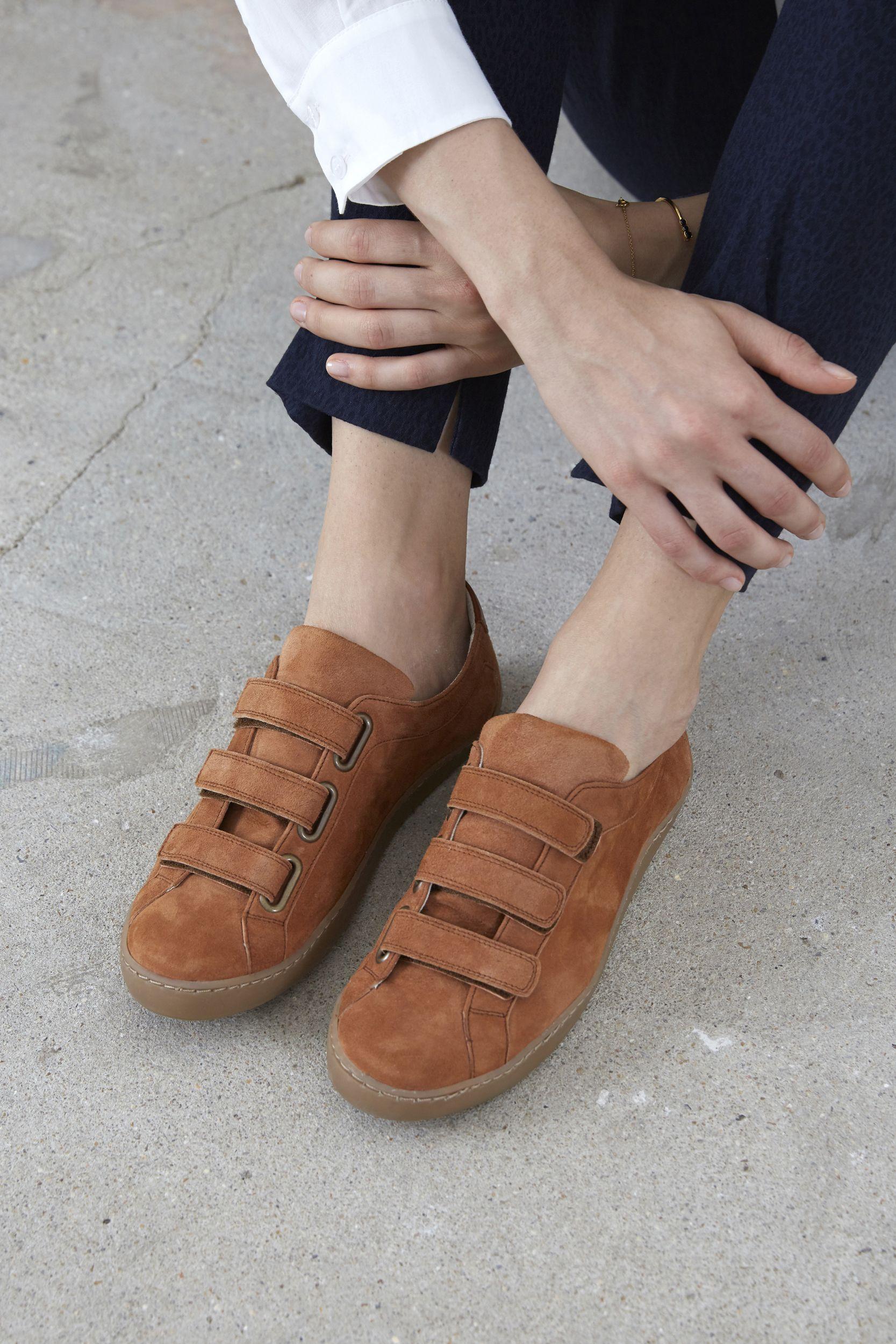 e5a9f029758c Baskets Honoré à scratch noisette Chaussure Ballerine, Chaussures Femme,  Chaussures Basses, Boutique Vetement
