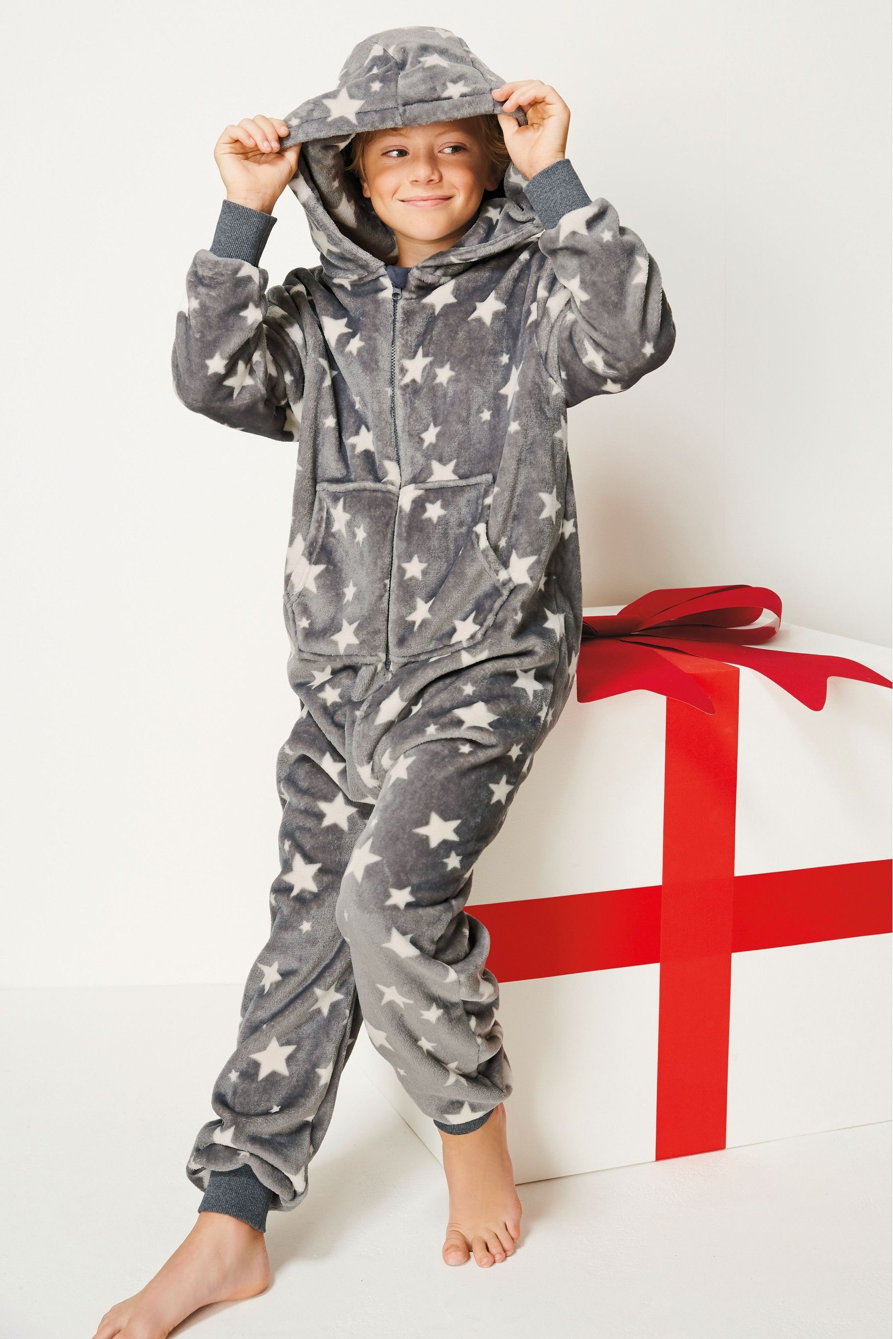 f46b201451af Buy Grey Star Fleece All-In-One (3-16yrs) from the Next UK online ...