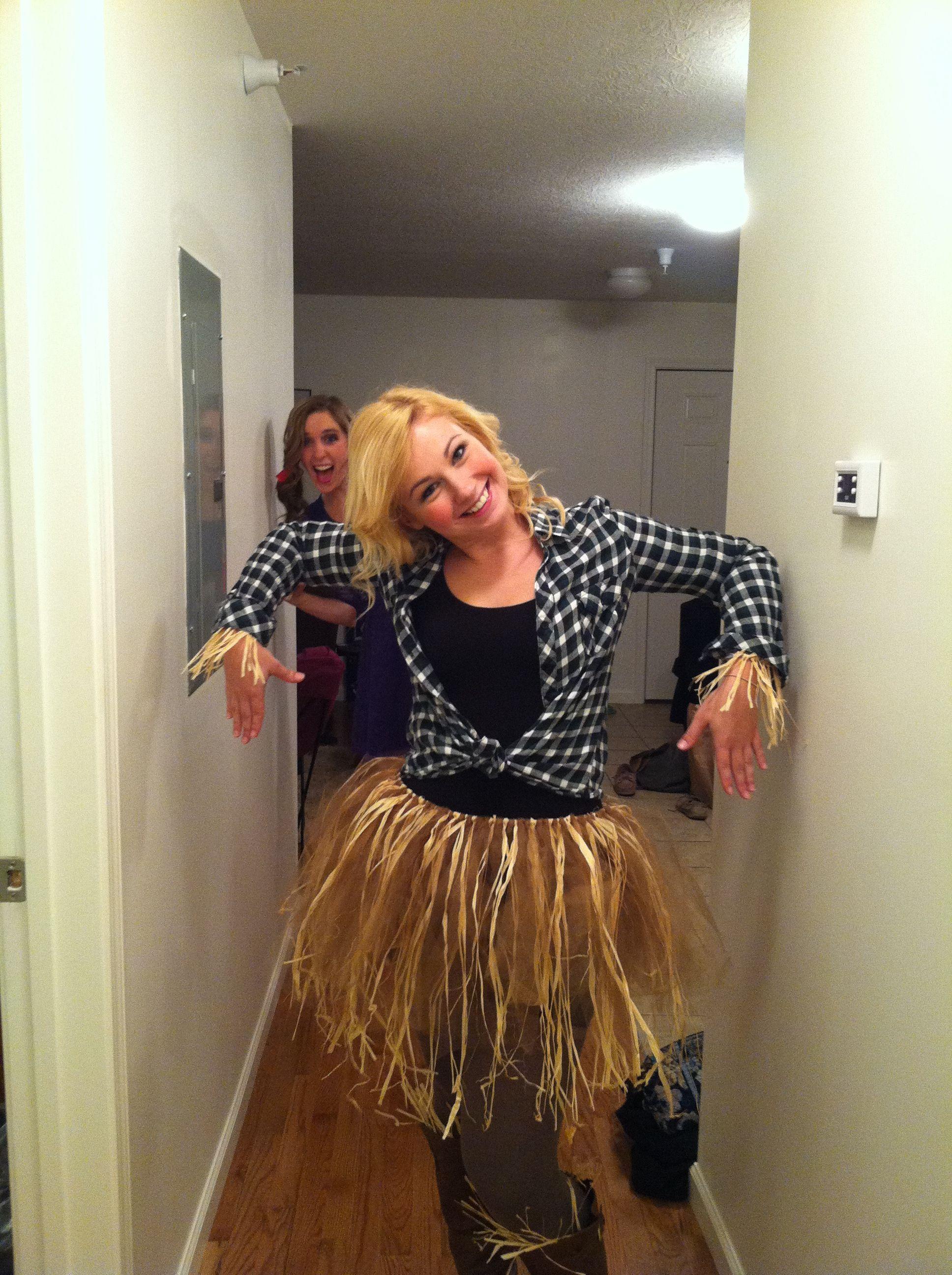 Scarecrow diy costume, homemade tutu! Craftiness