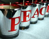 Set of 3 Holiday Candles Soy Wax Christmas Peppermint Candy Cane. $18.50, via Etsy.