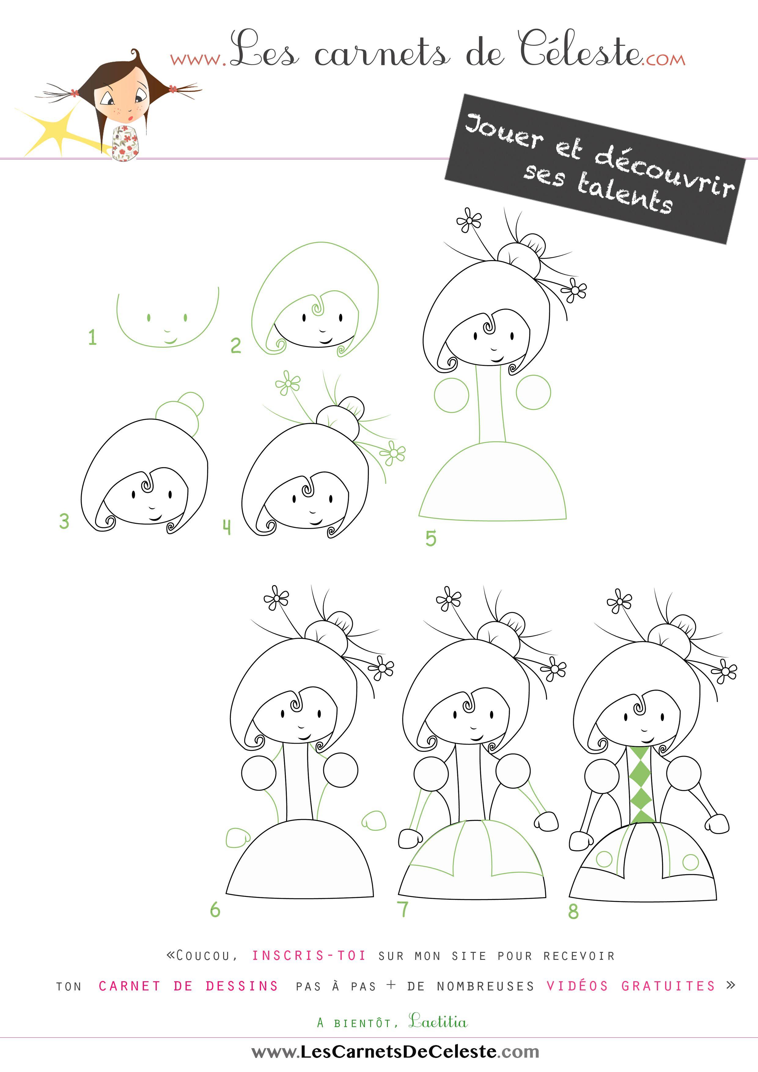 Apprendre dessiner une princesse en quelques tapes dessiner pas pas pinterest dessin - Comment dessiner princesse ...