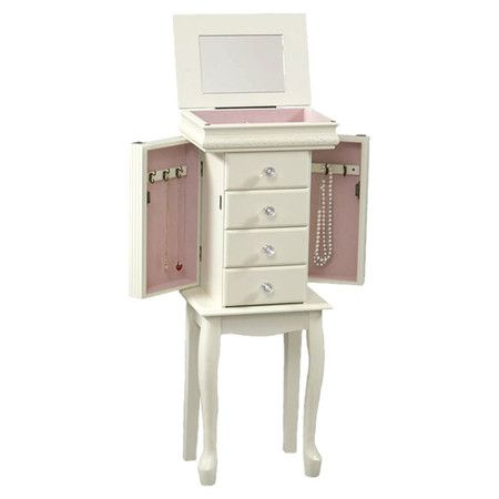 I love this little white Jewelry Armoire for a little girls room