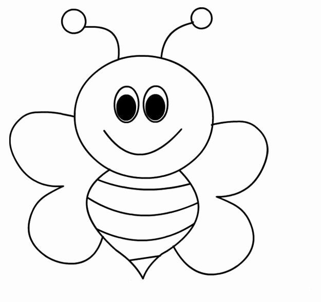 Bee Cartoon Coloring Page Taken