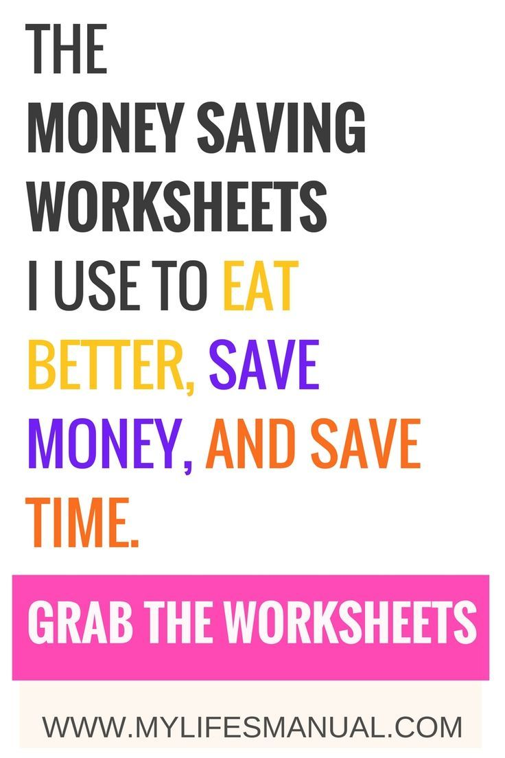 How To Budget Money For Food The Only Saving Money Worksheets To