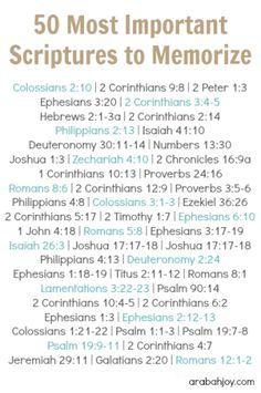 50 Important Scriptures to Memorize for New Believers - Arabah