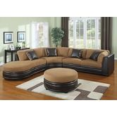 Found it at Wayfair - 4 Piece Microfiber/Polyurethane Sectional with Ottoman Set