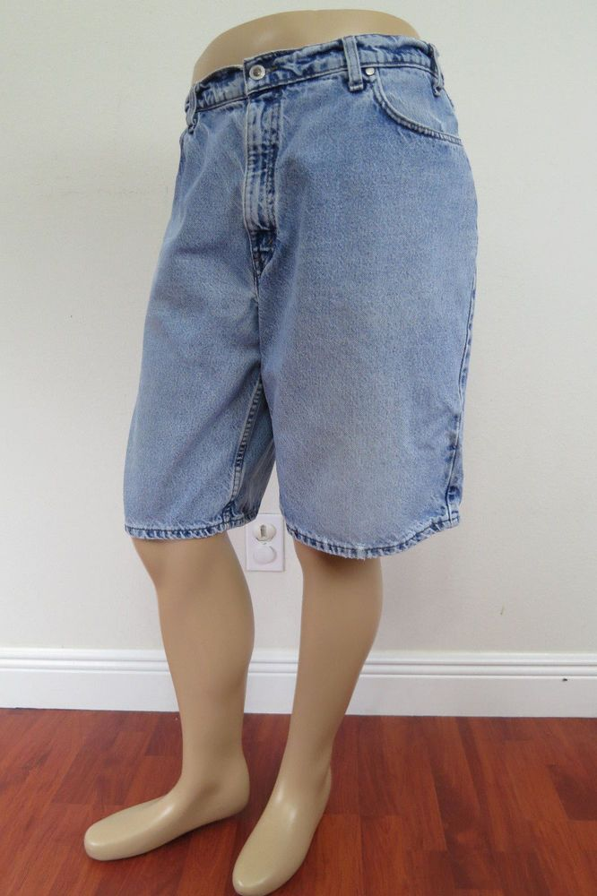 6cc16a9988 Vintage Levi's SilverTab Blue Denim Jeans Loose Fit Shorts Size 36 Made in  USA #Levis