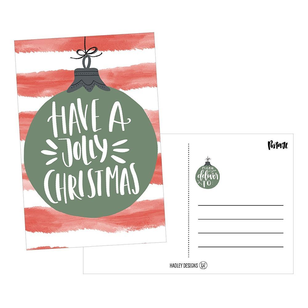 Red Holiday Greeting Postcards Set of 50 4x6 Blank Winter Christmas ...