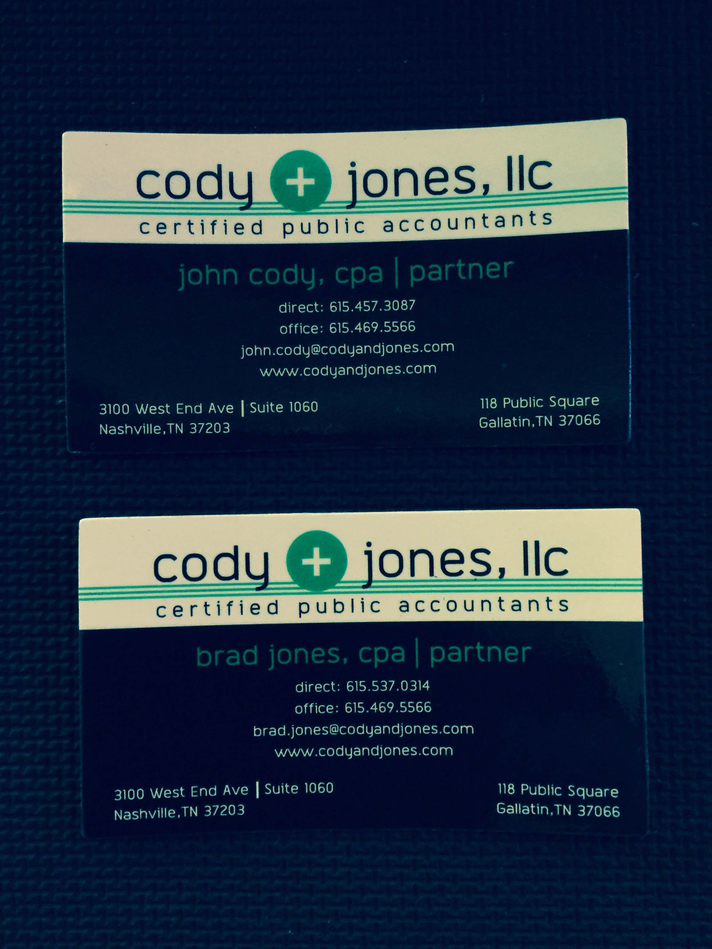 Magnetic Business Cards with Two Color Imprint