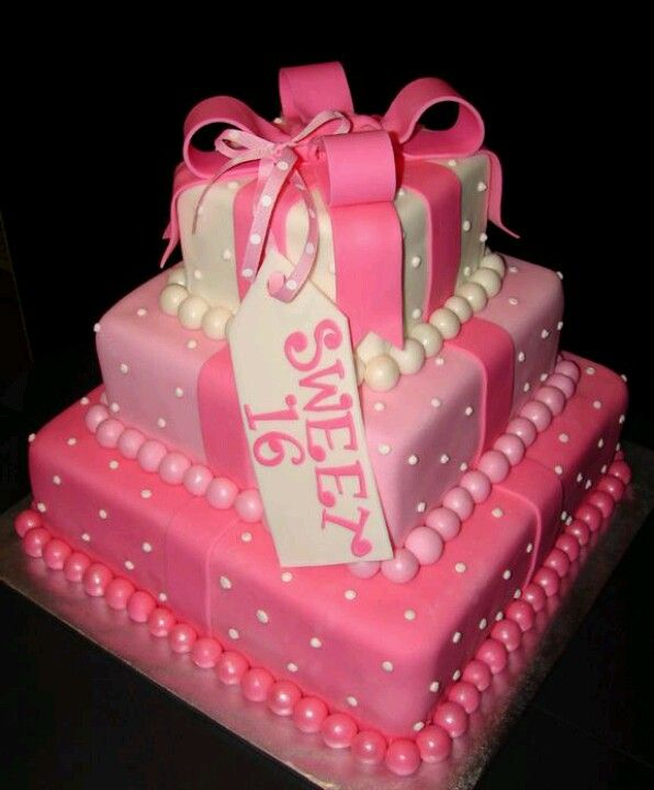 Pretty In Pink Sweet 16 Cake.