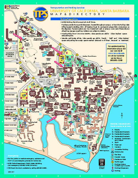 University Of California At Santa Barbara Map Illustrated Maps