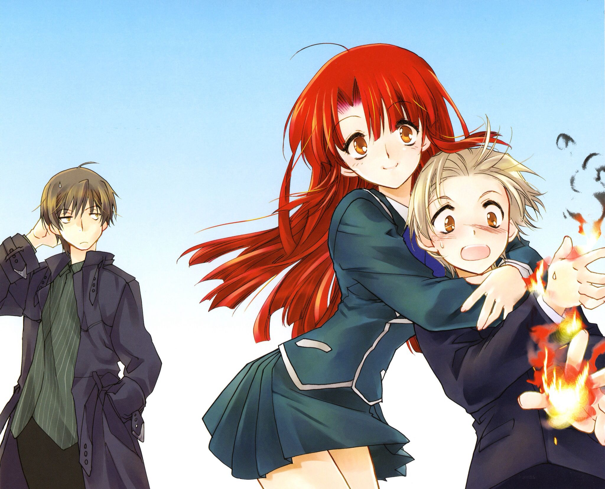 Kazuma X Ayano: Sister Hugging Baby Brother With Big Brother Watching