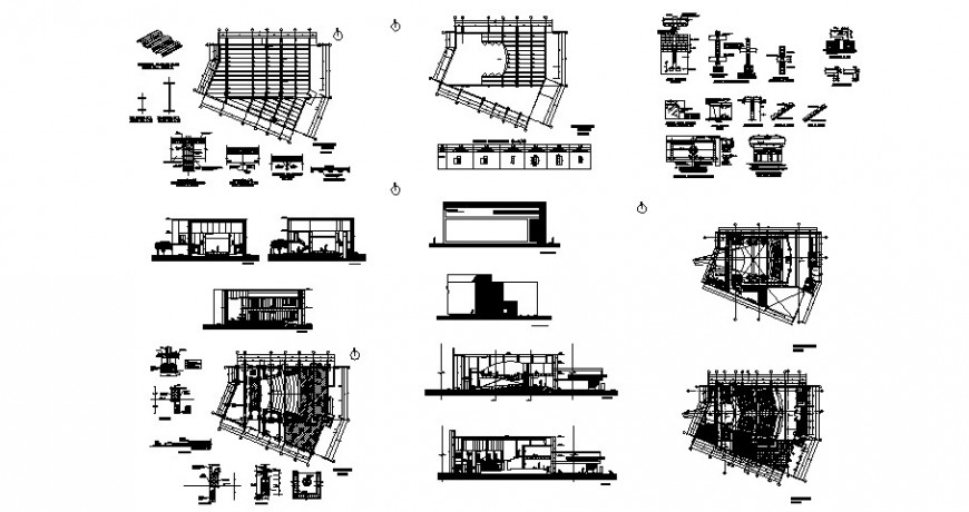 Plan, elevation, section and other construction block