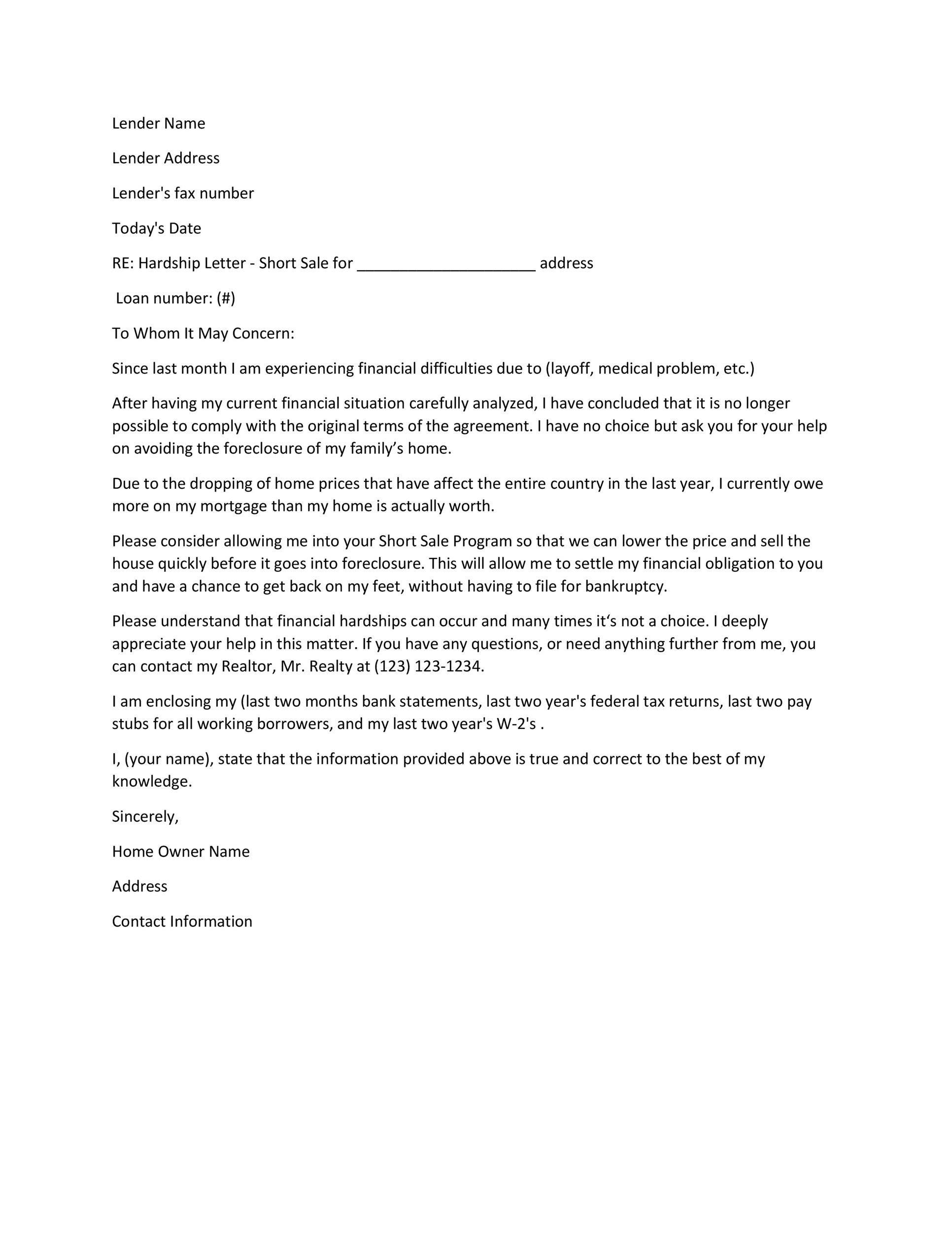 Hardship Letter For Mortgage Lettering Introduction Letter For Job Letter Example