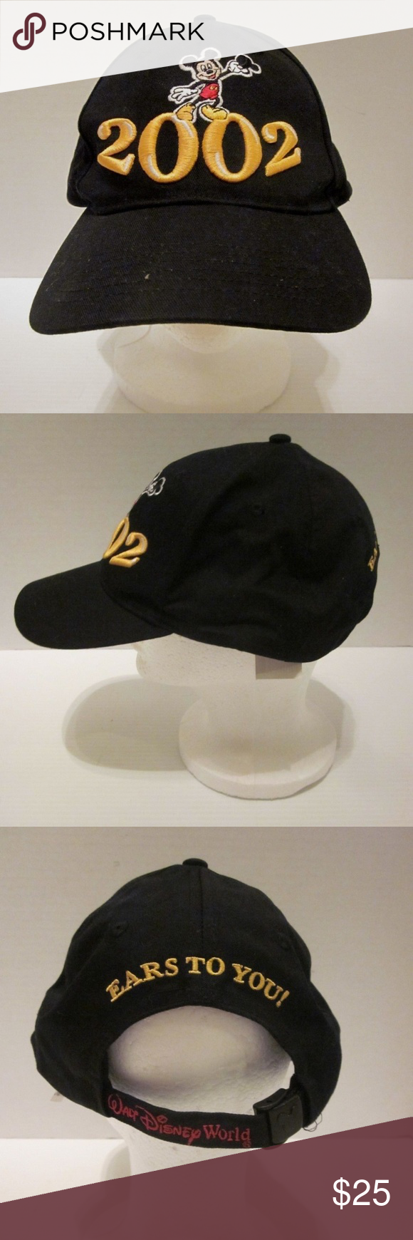 185db149a11a77 New Walt Disney World Ears to You 2002 Hat Cap For sale is a Walt Disney  World 2002 Ears to You black baseball cap in adult adjustable size.