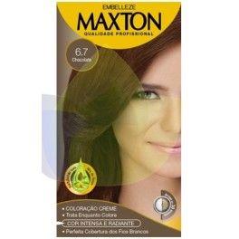 Tinte Permanente  Profesional  Chocolate 6.7  Maxton Embelleze kit economico-60g+60g