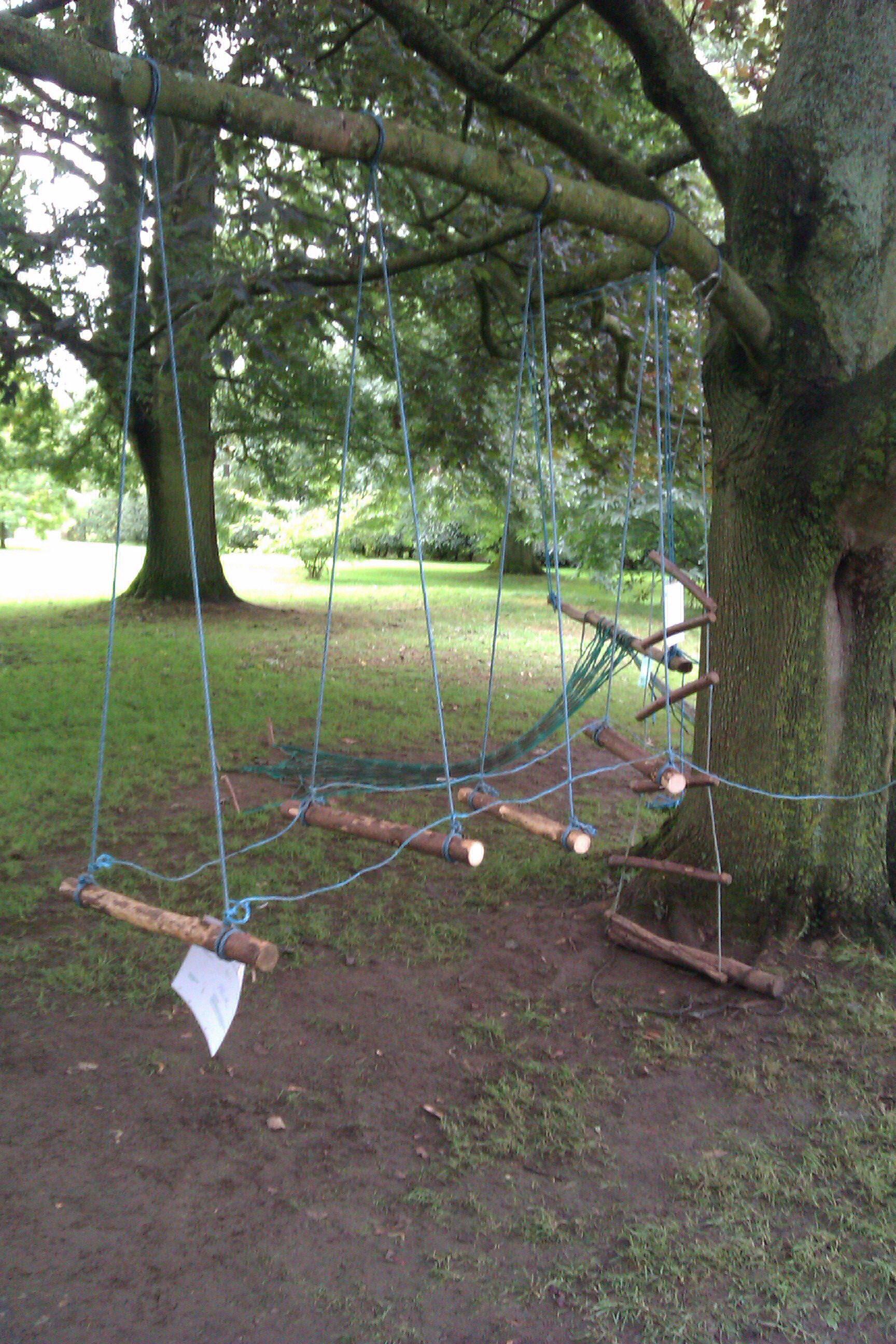 Balance rope bridge