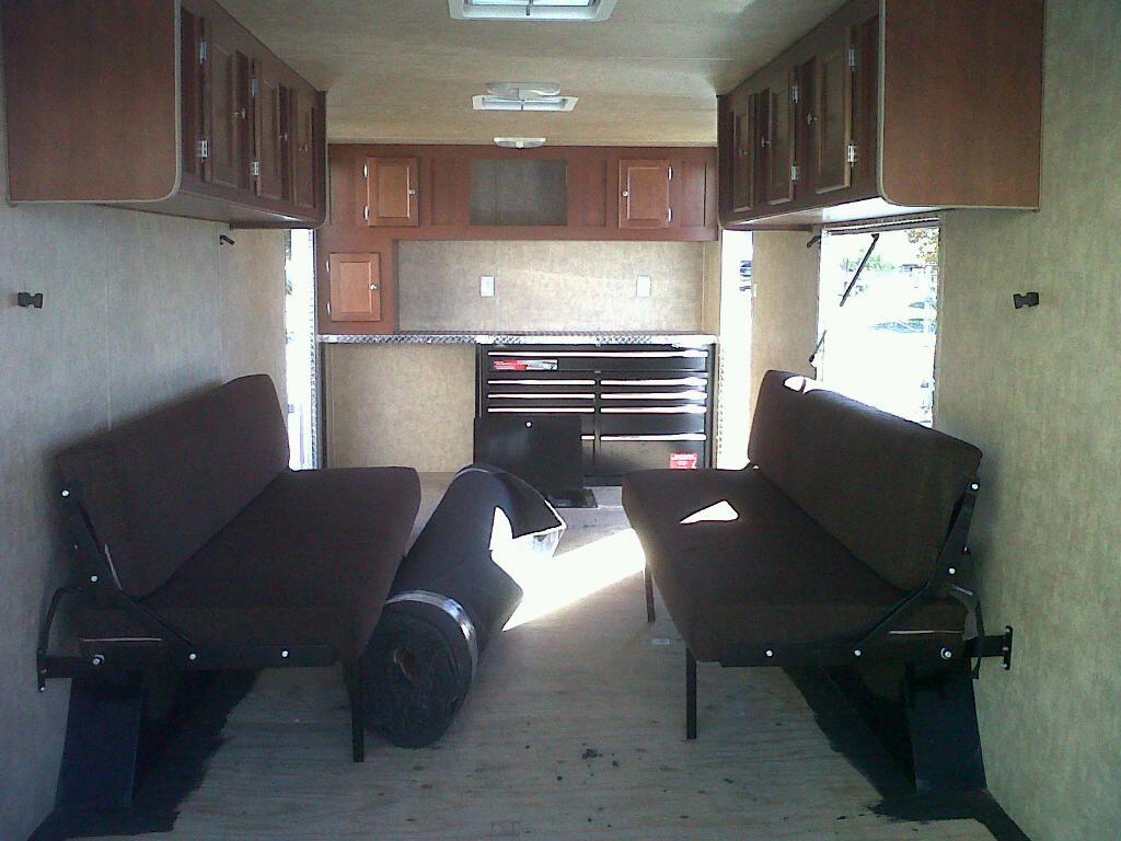 Custom over head cabinets/Custom sofa beds/Wood cabinet doors/