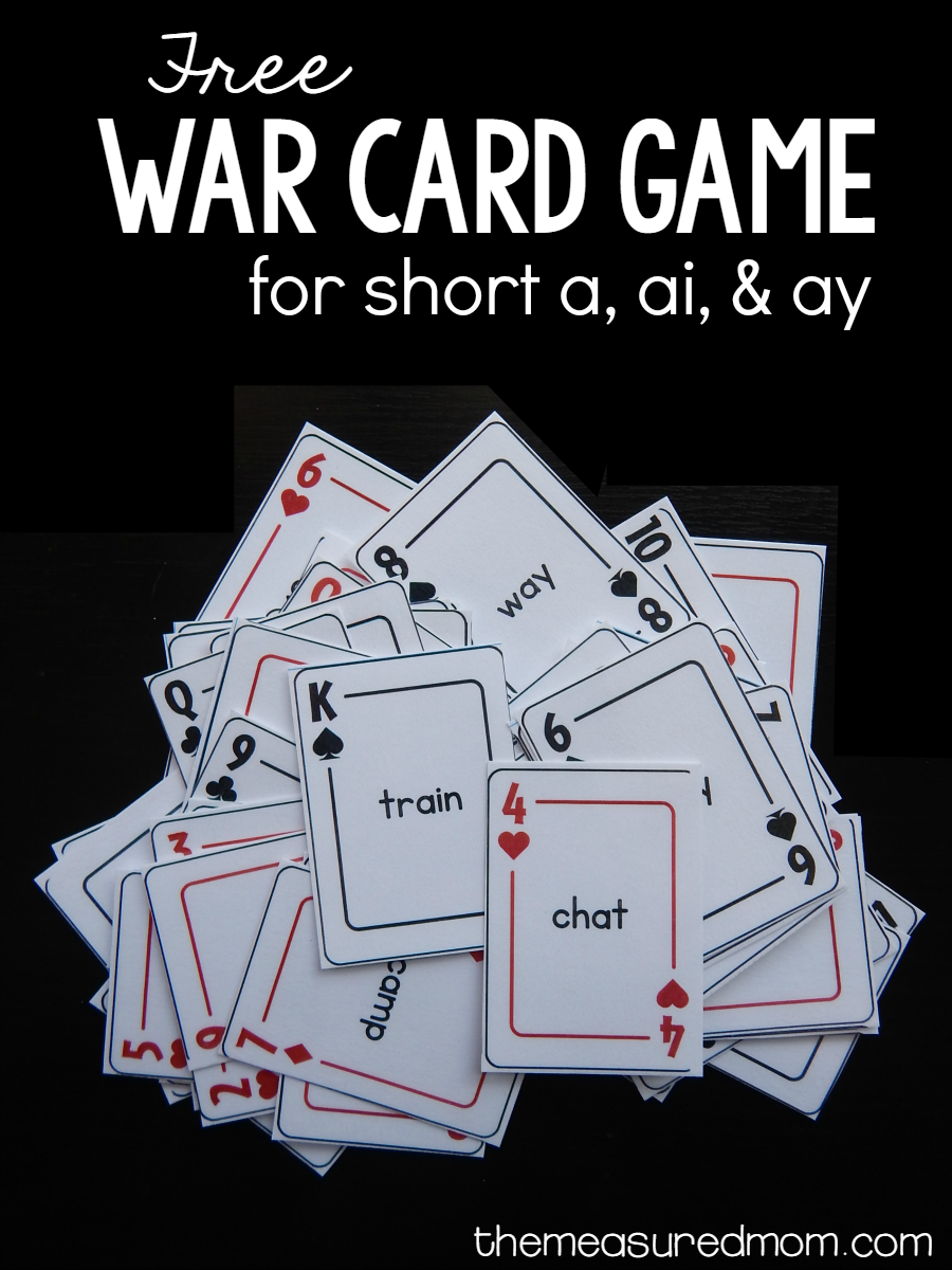 Free card game for ai & ay words | work stations | Pinterest | Free ...