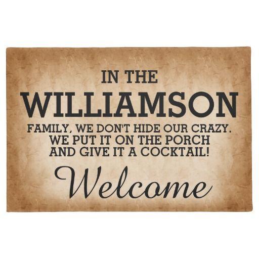 funny family name doormat funny family door mat and doors