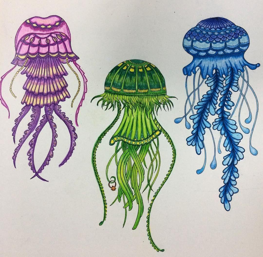 Colorful jelly fish #lostocean #lostoceancolors #lostoceanbook ...