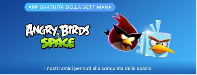 Apple regala il gioco Angry Birds Space