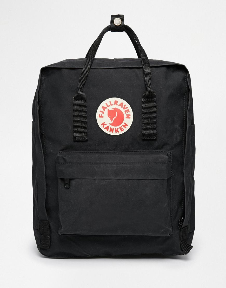 Looks  Fjallraven Kanken Classic Black Backpack at asos. ab2b4b63ec84a