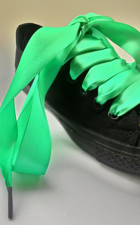 6714e3a91324 Satin ribbon shoelaces