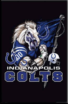Indianapolis Colts Logo Poster Nfl Football Framed