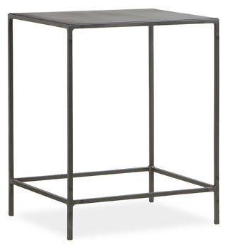 slim 20x16 24h end table - natural steel  $169