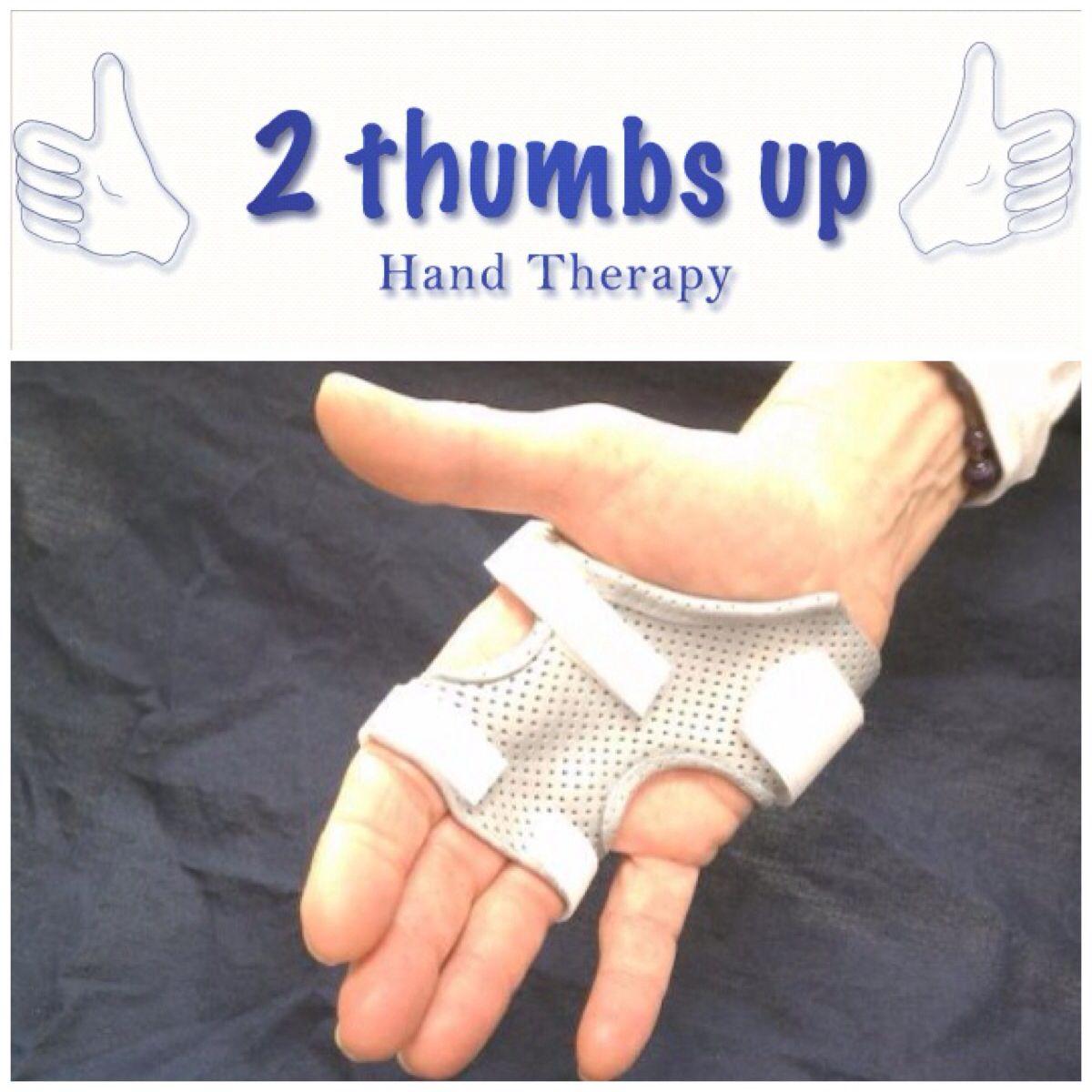 Custom splinting for multiple trigger fingers at 2 Thumbs ...