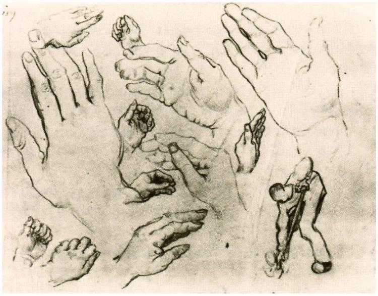 Vincent Van Gogh Hands Drawing Vincent Van Gogh 1853