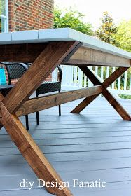 How To Build A Designer Inspired X Leg Outdoor Dining Table