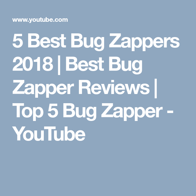 5 Best Bug Zappers 2018 Best Bug Zapper Reviews Top 5 Bug Zapper Youtube With Images Bug Zappers Bug Zapper Hamilton Beach