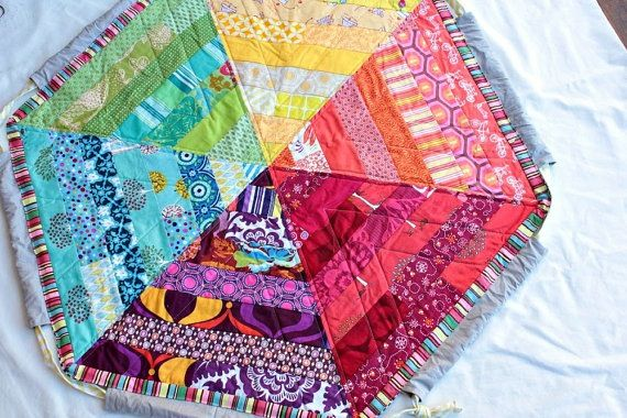 Hexagon Quilt With Drawstring Playmat And Bag To Carry All The Toys