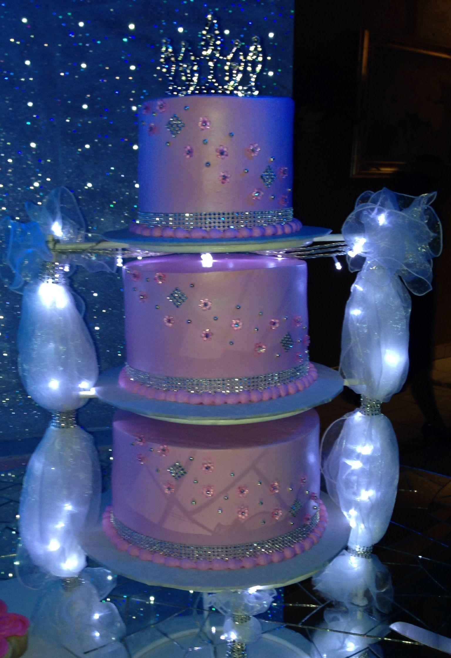 Princess Cake Pink Bling Cake Tiara Topper Quince