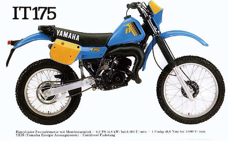 Yamaha IT175 | Dirt bike parts, Motorcycle, Vintage motorcycles